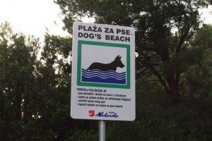 Hundestrand in Makarska